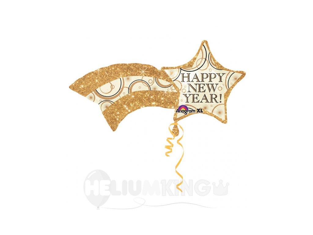 Balón Hviezda Happy New Year