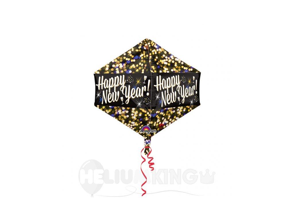 Foliovy balion oslava happy new year