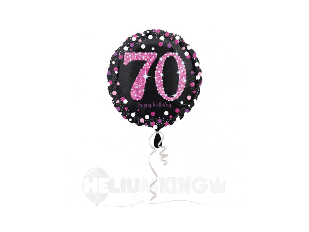 Foliovy balon 70 trblietava ruzova