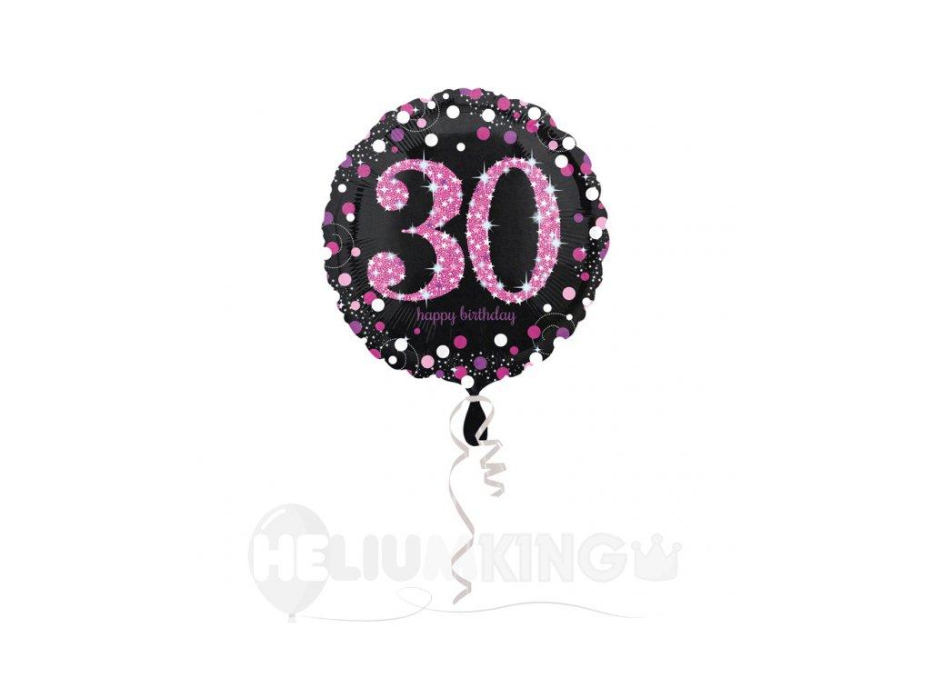 Foliovy balon 30 trblietava ruzova