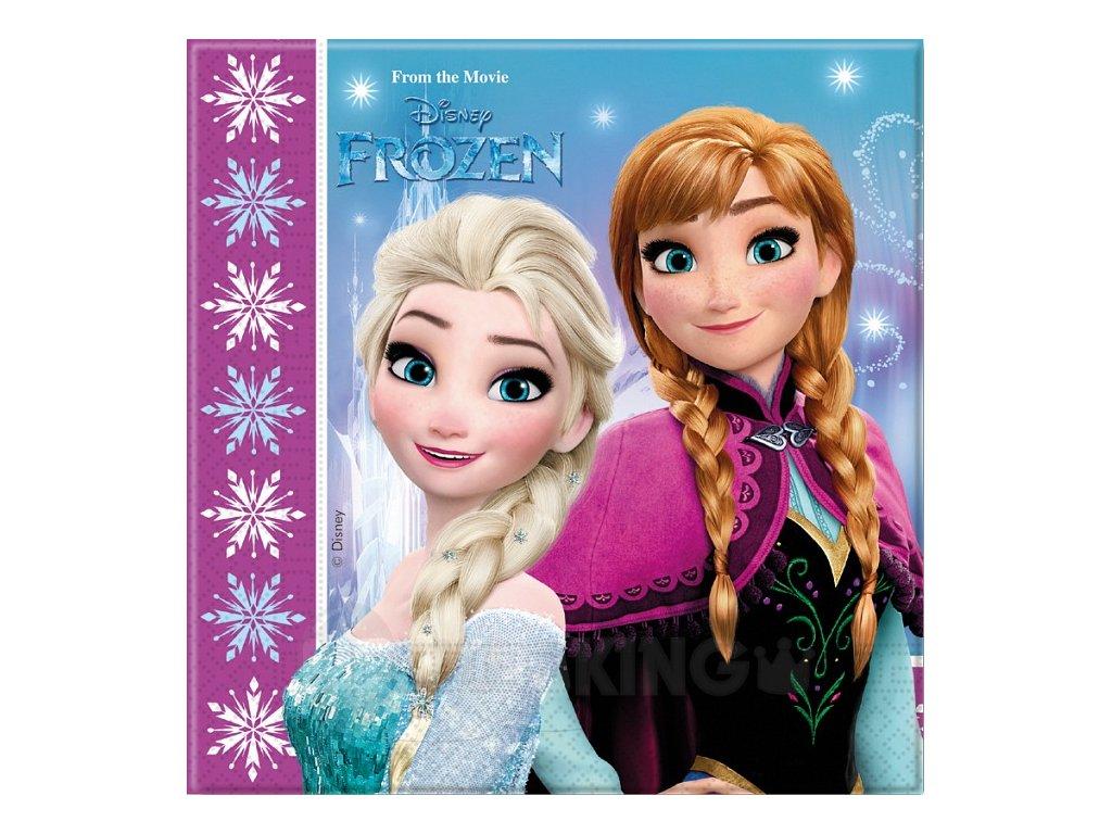 Servítky s potlačou Frozen/Ľadové Kráľovstvo 33 x 33 cm 20 ks