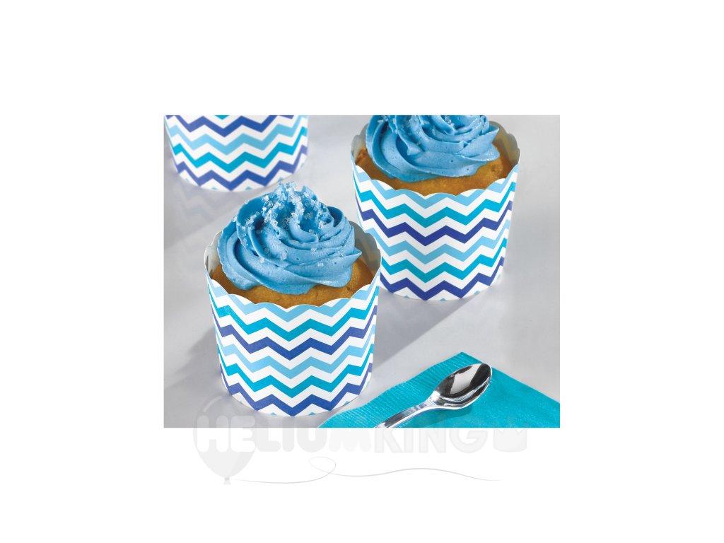 df0a4e28e Papierové košíčky modré 24 ks - HeliumKing.sk