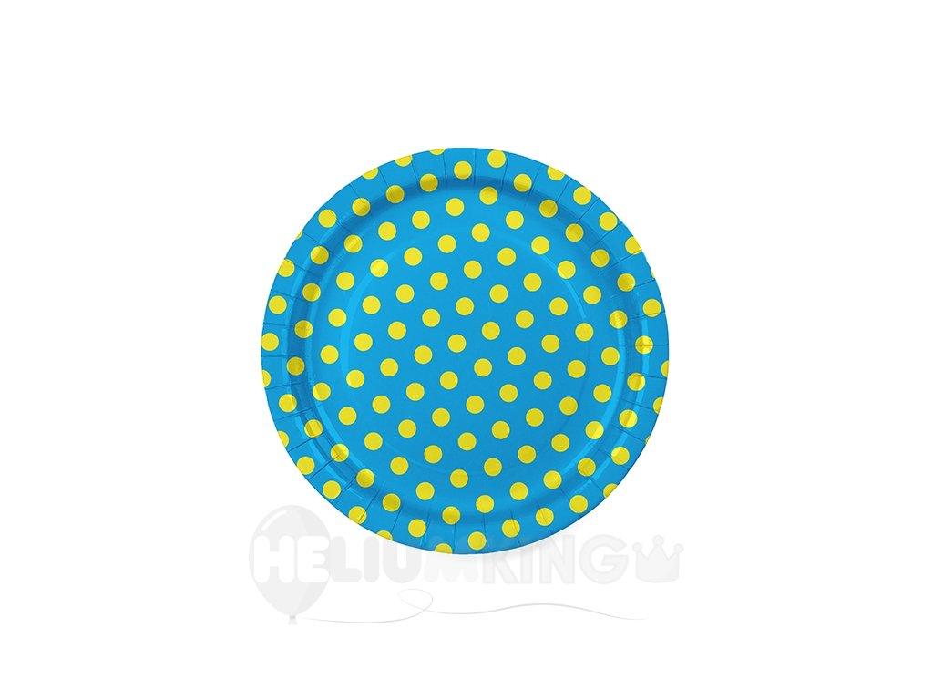 Bodkovany tanier modry