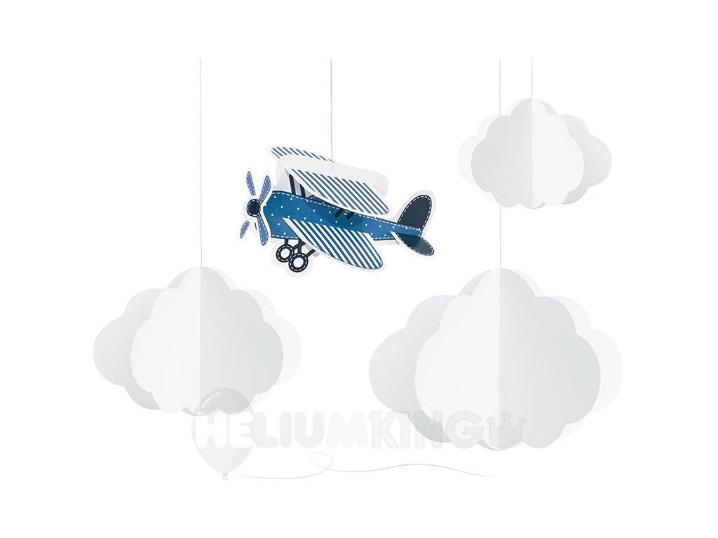 Visiaca dekorácia Lietadlo 4 ks
