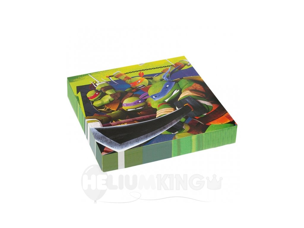 Servítky Ninja korytnačky  33 x 33 cm 20 ks