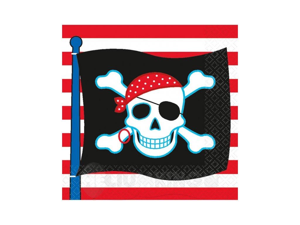 Servítky Pirátska oslava 33 x 33 cm 16 ks