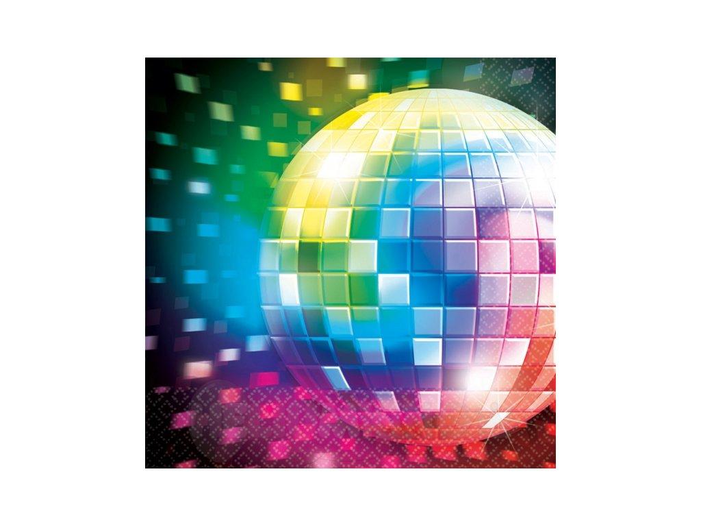 Servítky Disco horúčka 33 x 33 16 ks