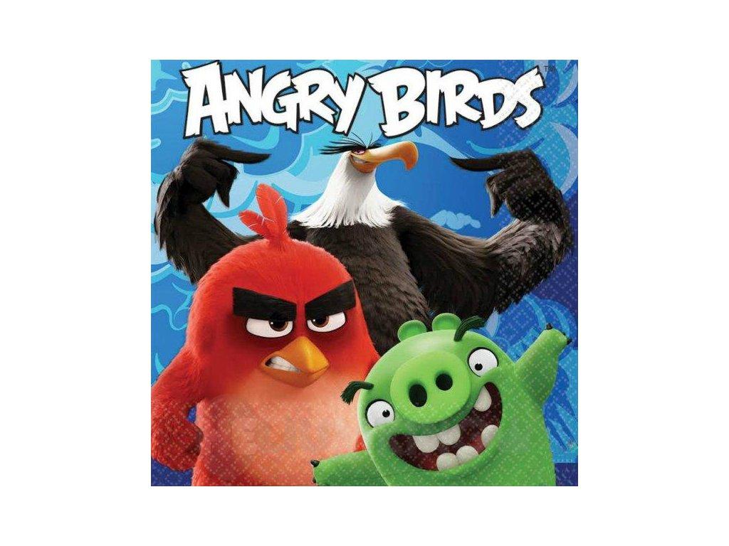 Servítky Angry Birds vo filme 33 x 33 cm 20 ks