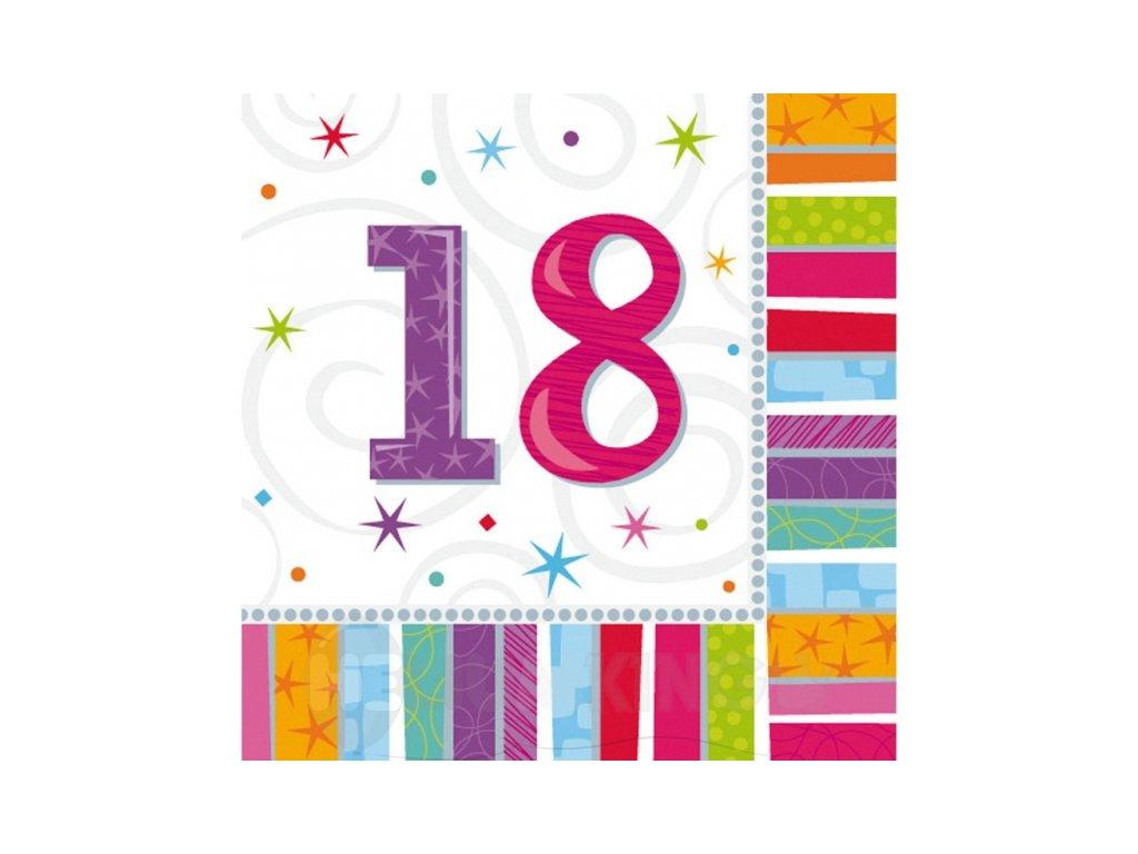 Servítky 18. narodeniny 33 x 33 16 ks