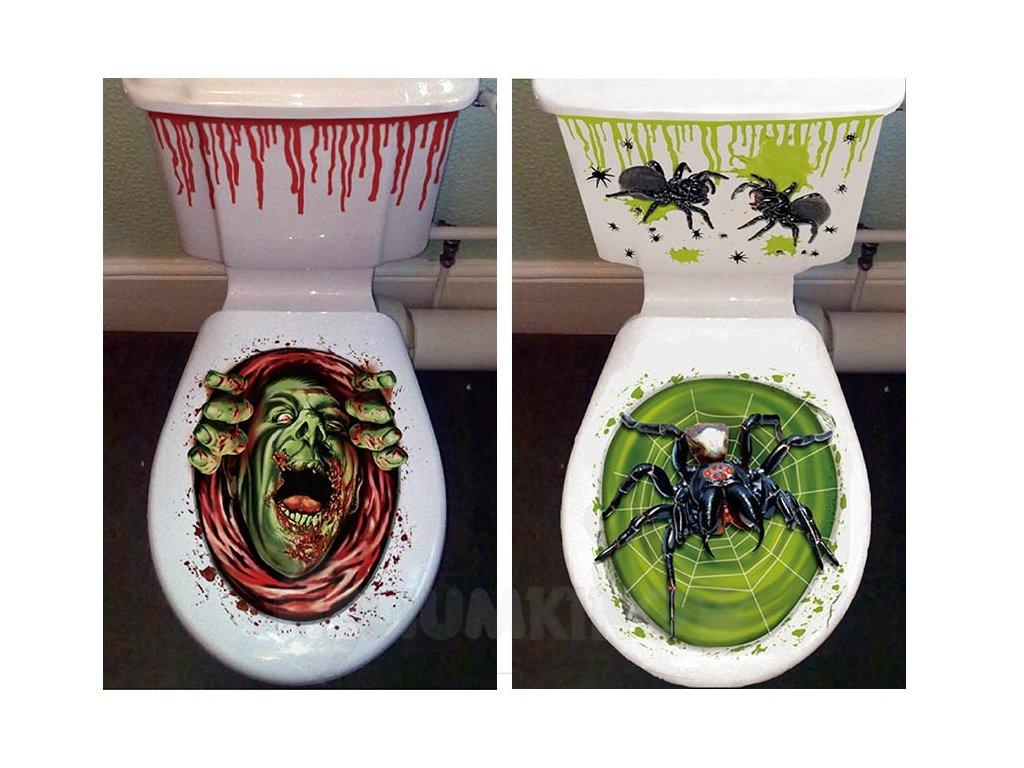 Hallowenska nálepka na záchod strašidelný vzor
