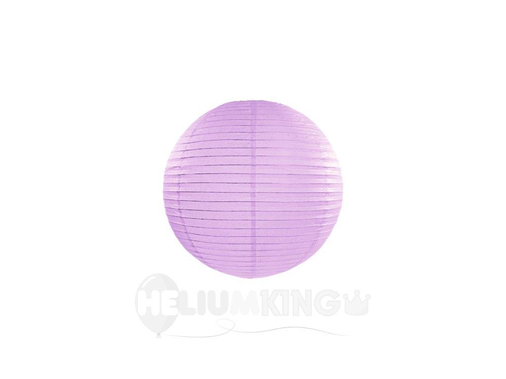 Okrúhly papierový lampión levanduľový 20 cm