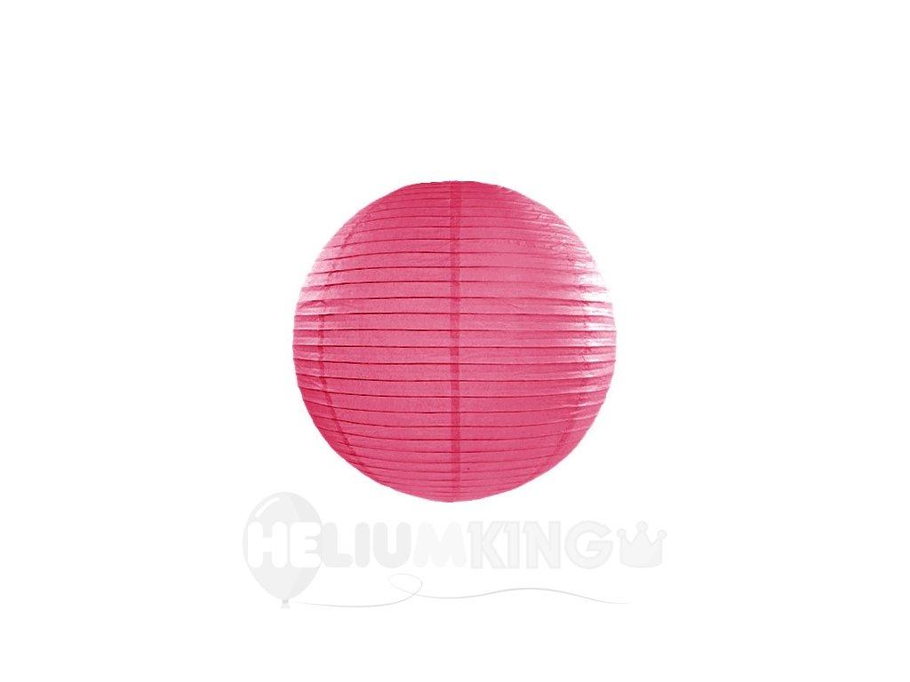 Okrúhly papierový lampión teplý ružový 20 cm