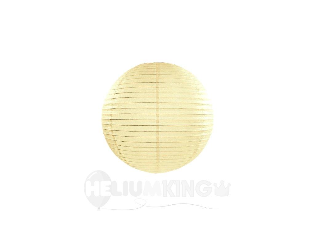 Okrúhly papierový lampión krémový 20 cm