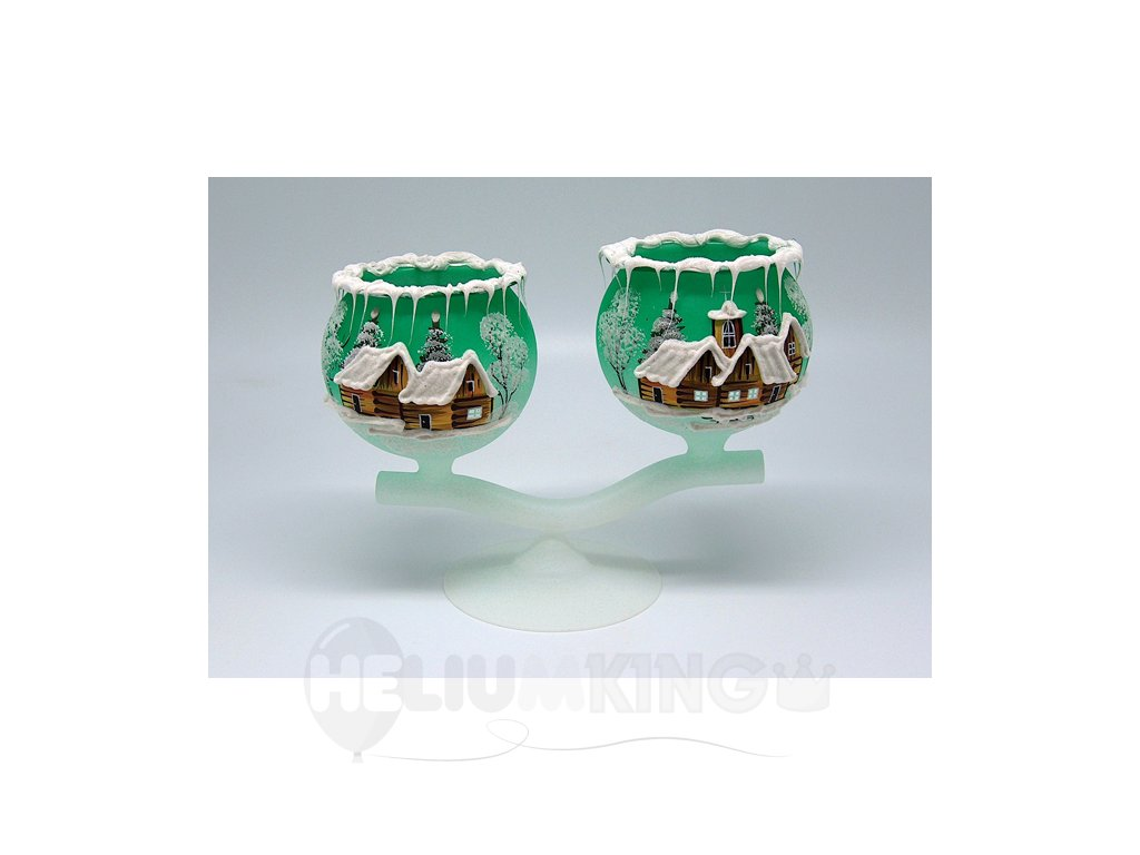 Dvojkalich zelený s motívom dreveníc