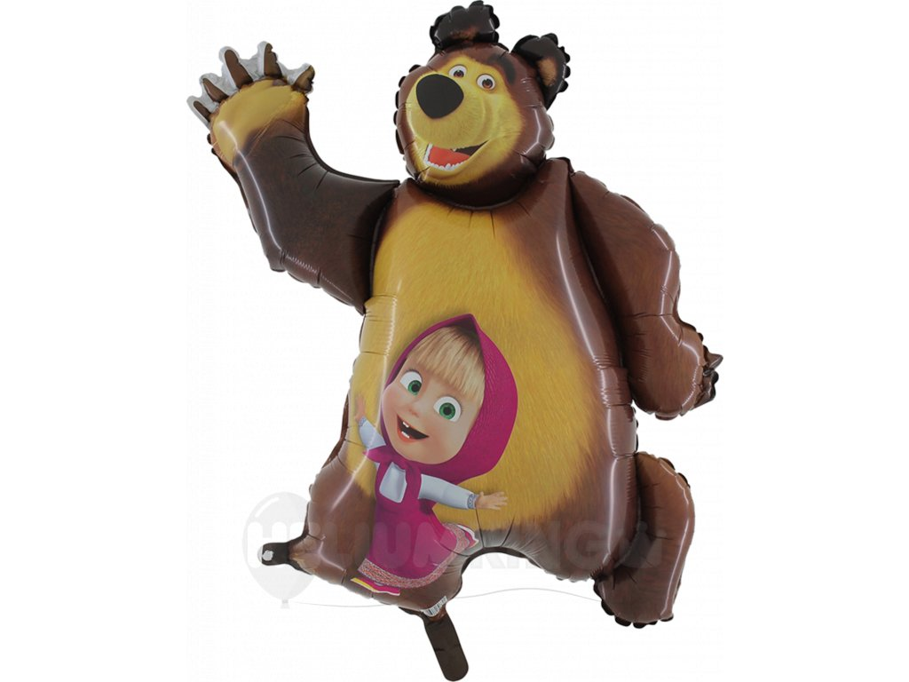 Fóliový balón Máša a Medveď