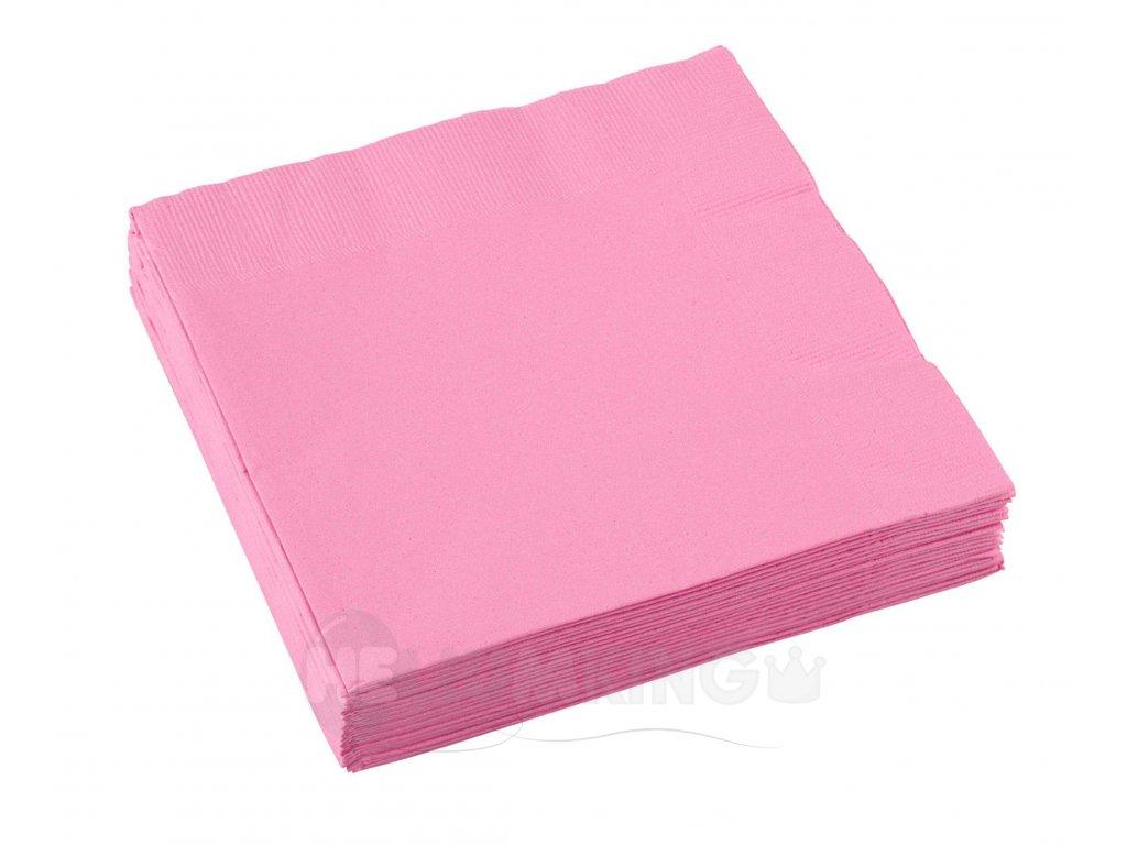 Ružové servítky