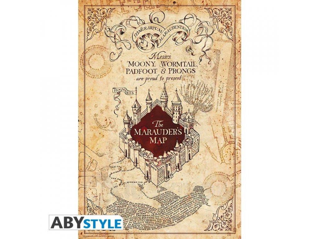 harry potter poster carte du maraudeur roule filme 915x61