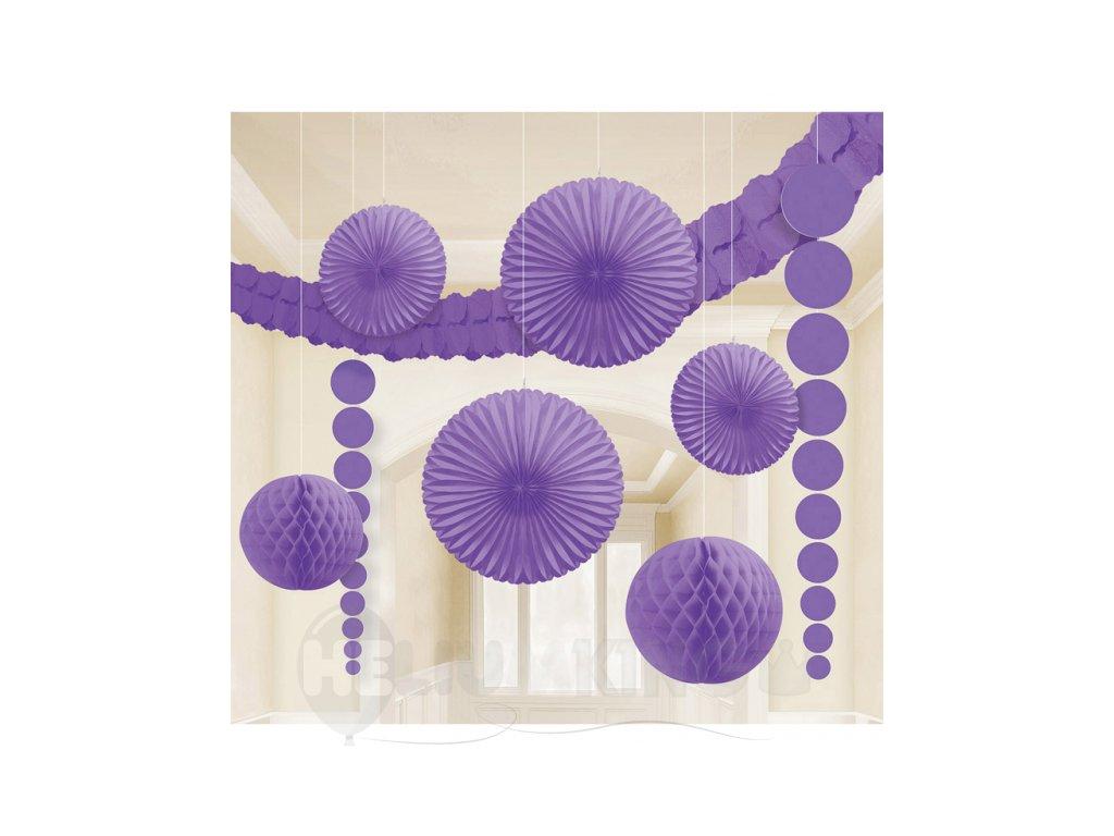 Dekoračný set fialový