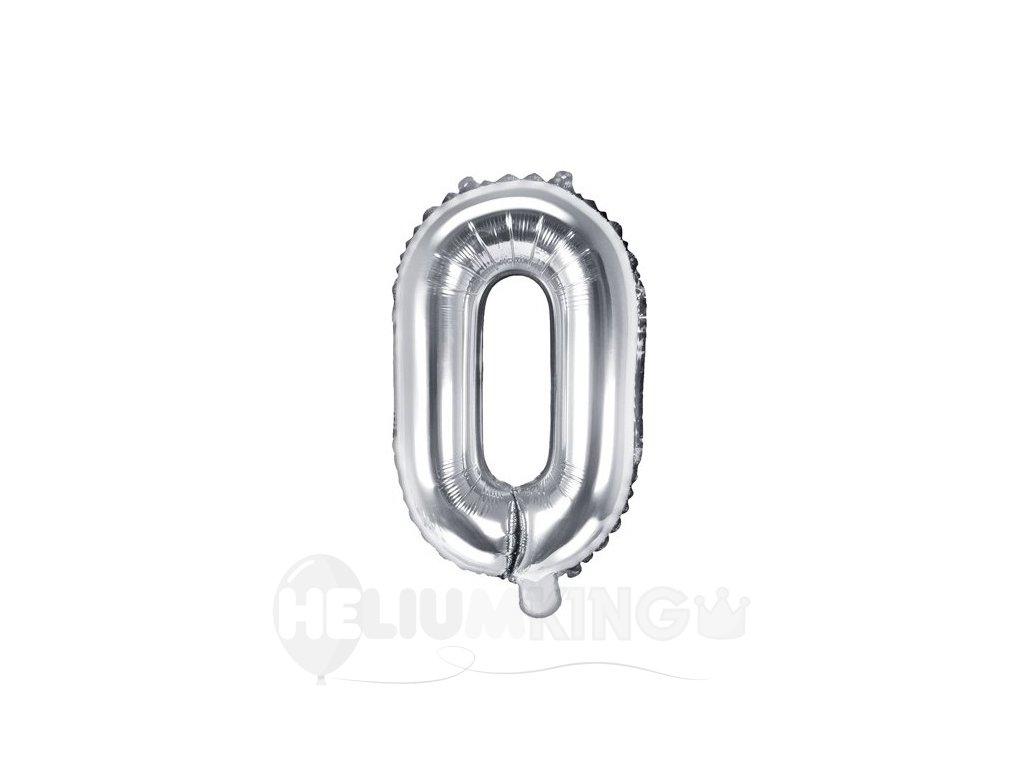 Fóliový balón Mini - Písmeno O 35cm strieborný