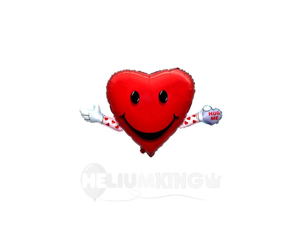balon srdce s rukami
