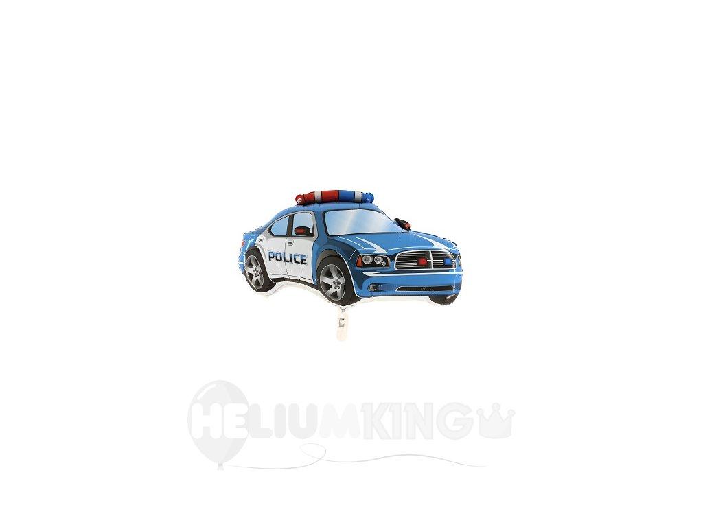 Fóliový balón - policajné auto modré