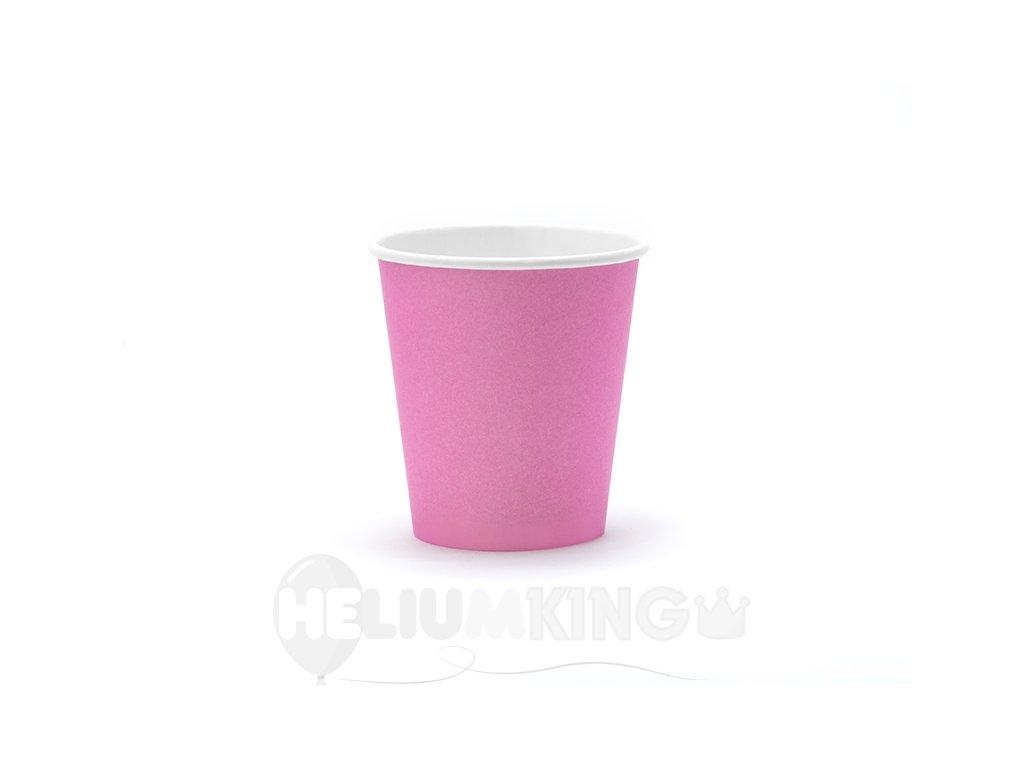 Ružové papierové termo poháriky 6 ks