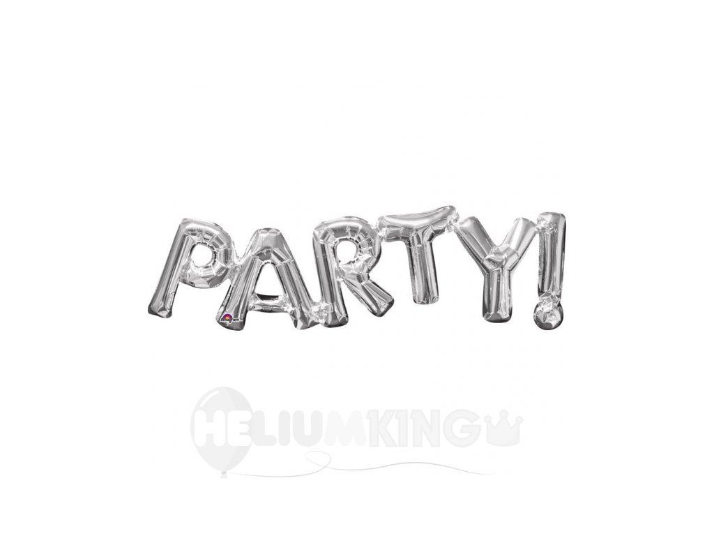 Fóliový balón Party strieborný