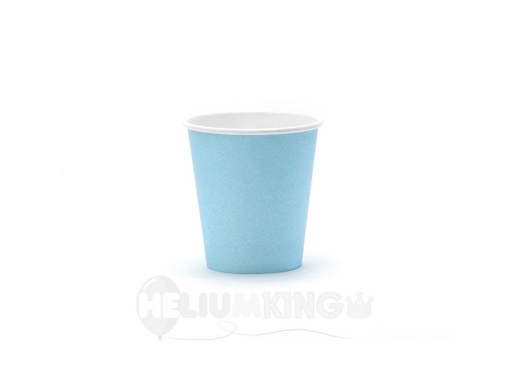 Svetlomodré papierové termo poháriky 6 ks