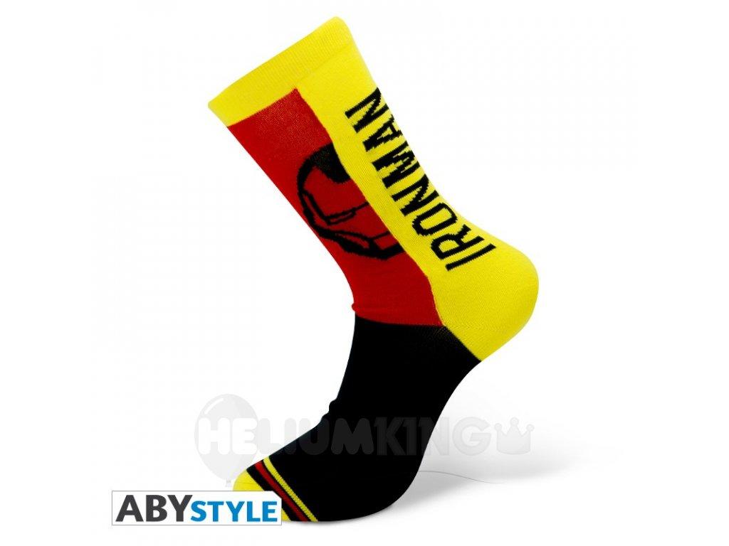 marvel socks yellow red black iron man (1)