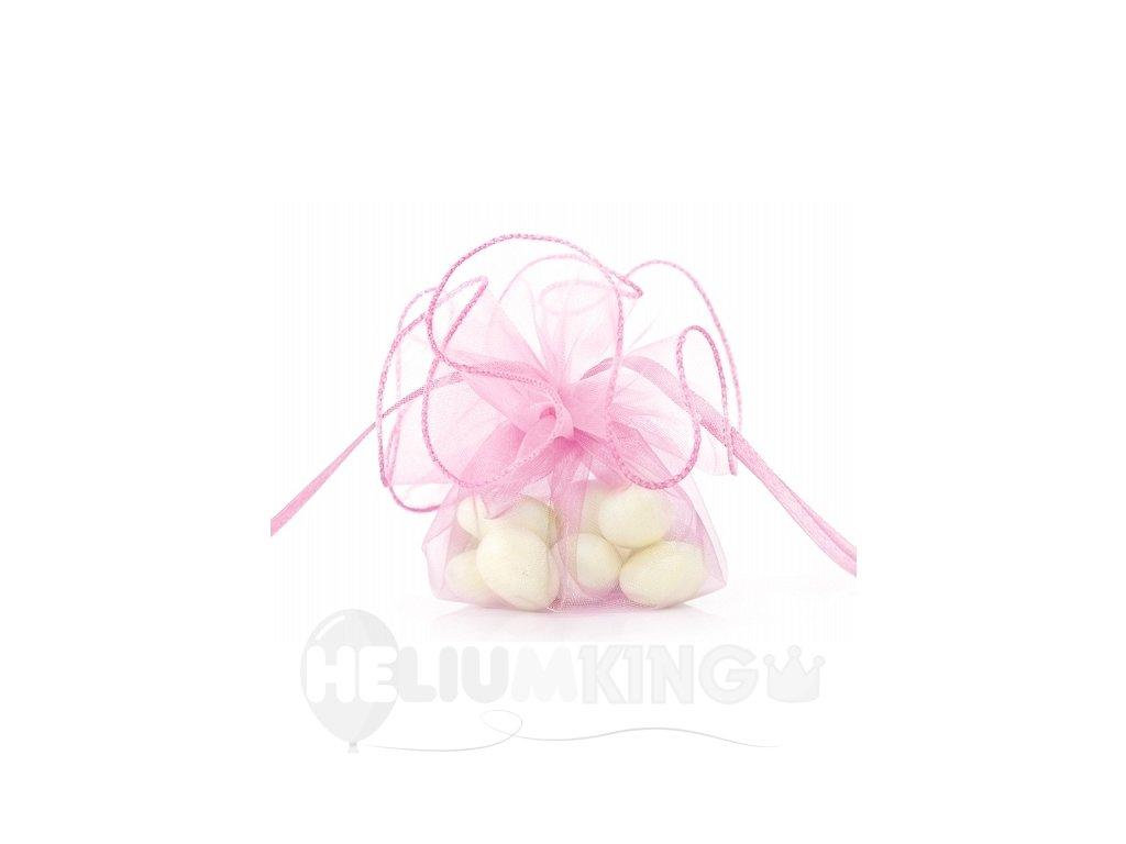 Organzové vrecúško ružové
