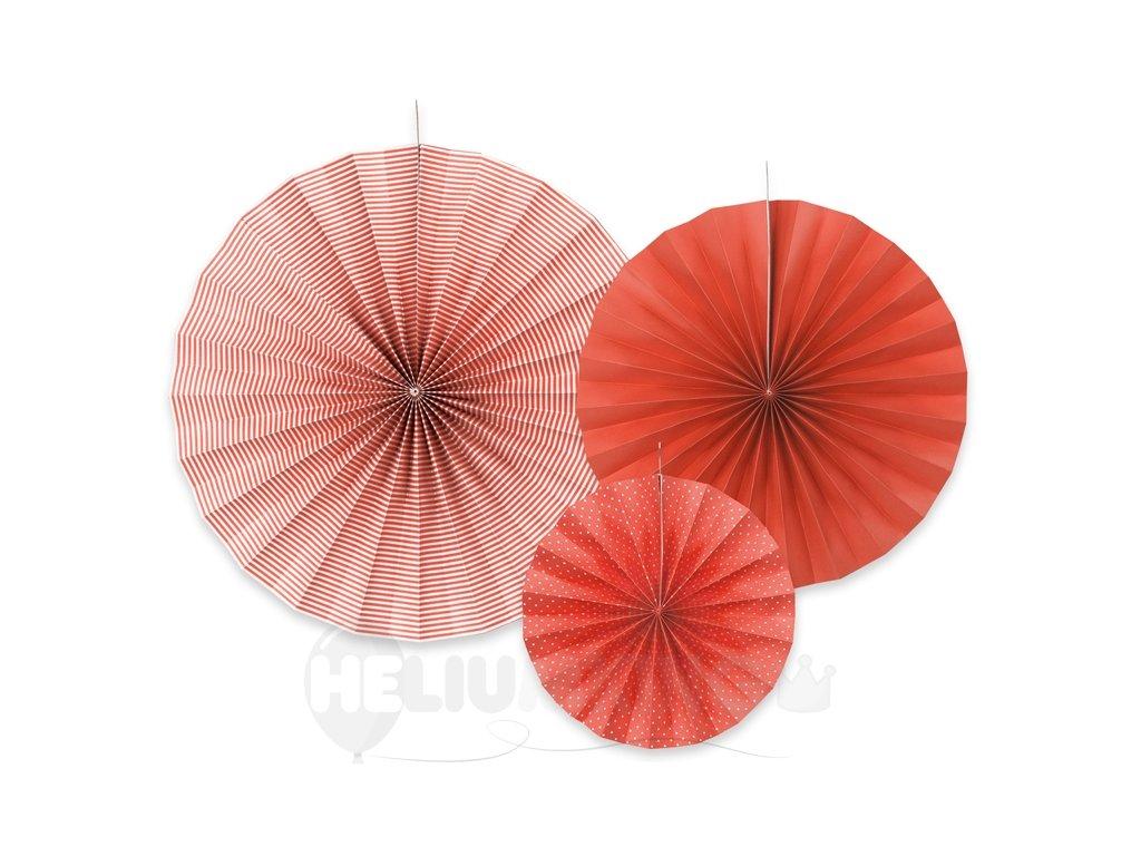 dekoracne rozety cervene