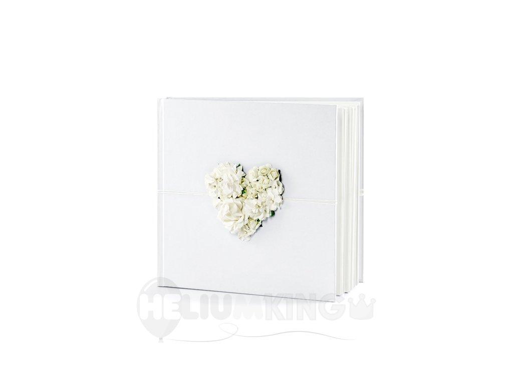 Kniha hostí s kvetovým srdcom