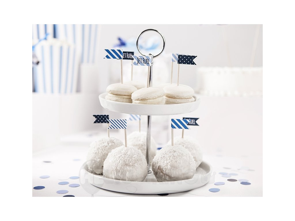 Mini vlajky na cupcakes - Lietadlo 6ks