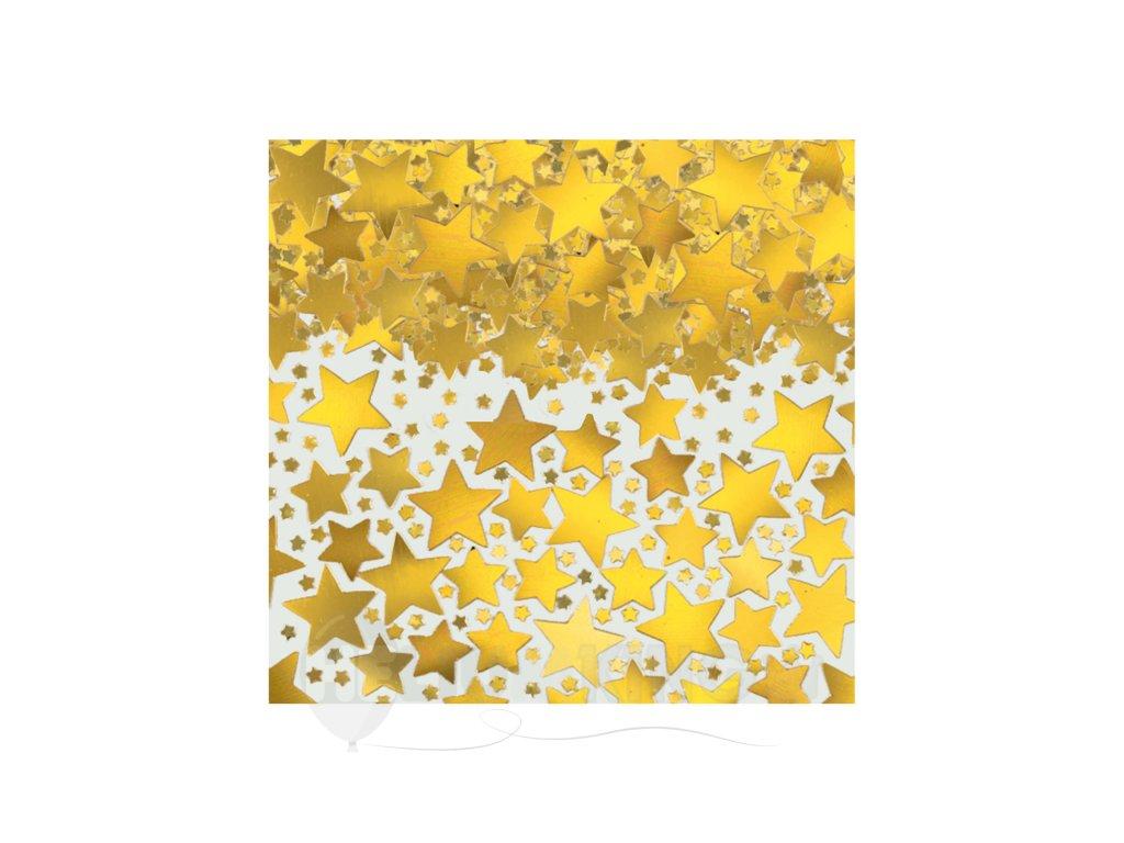 Konfety - Zlaté hviezdy fóliové 70 g