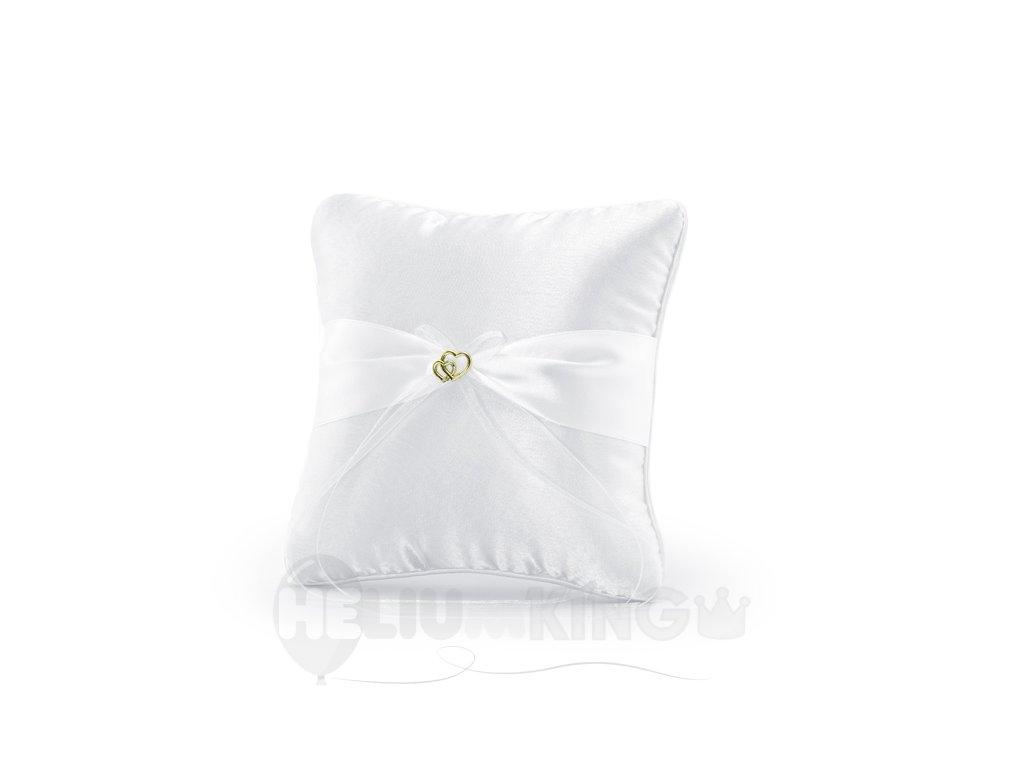 Biely vankus so zlatou dekoraciou