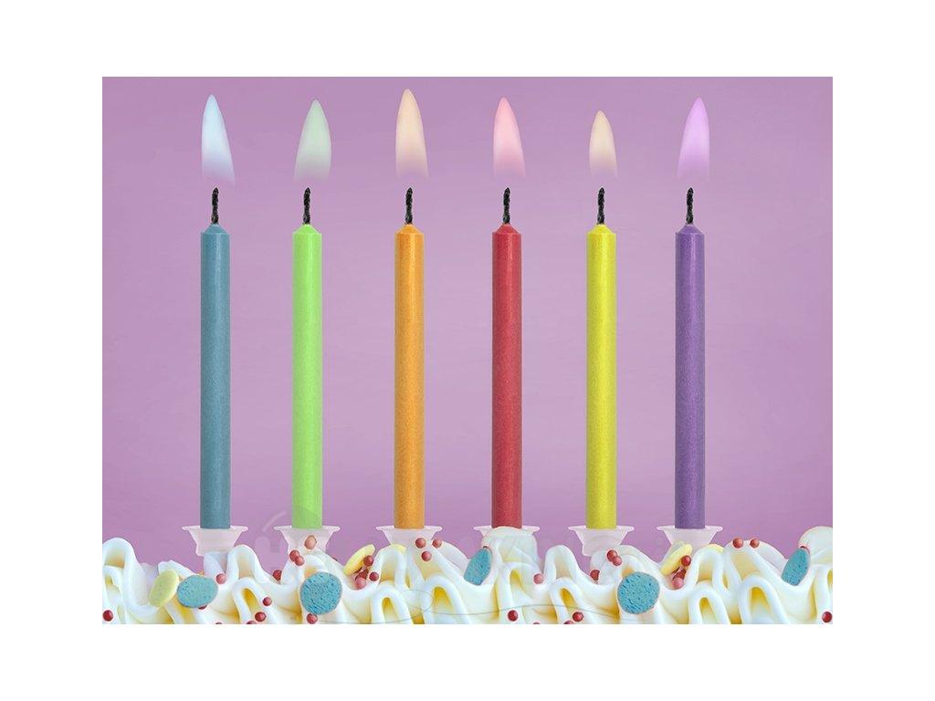Narodeninové sviečky - 6 farieb plameňov  6 ks