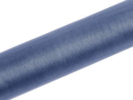 Organza hmlistá modrá 16cm x 9m