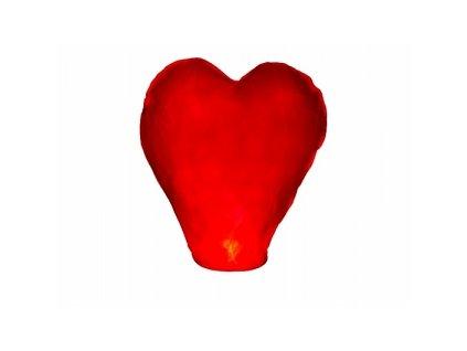 Lietajúci lampión priania srdce červené