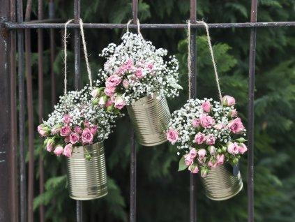 Plechovky na svadbu zlate