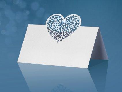 Menovka s vyrezávaným srdcom Ornament