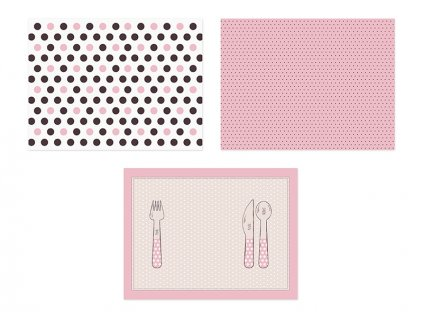 Prestieranie papierové ružové 6 ks