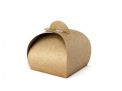 Darcekova krabicka hneda