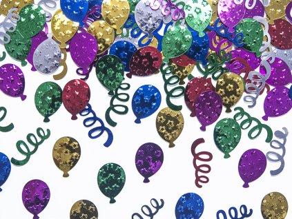 Metalické rôznofarebné konfety