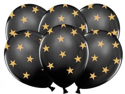 Lacny cierny balon s hviezdami