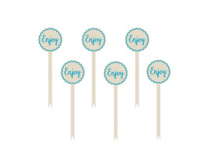 ozdoby na cupcake modre