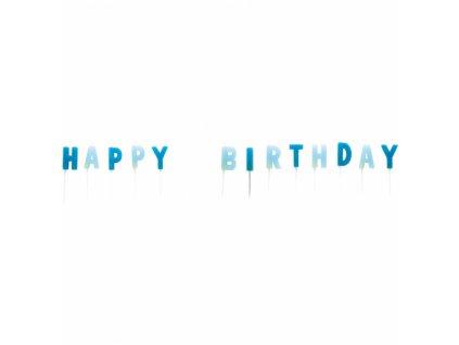 Sviecky Happy Birthday modre