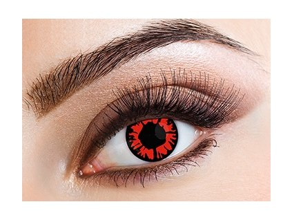 Eyecasions Explosion Red Contact Lenses