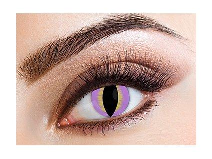 Eyecasions Purple Lizard Contact Lenses