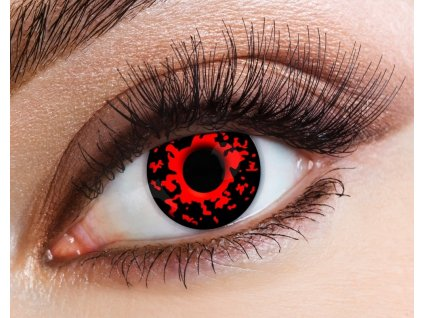eyecasions one day halloween contact lenses lava 1 pair p23476 94495 image