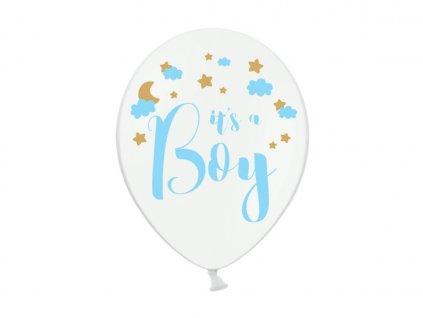 Balónik pastelový biely Je to chlapec